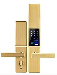Недорогие -слайд отпечатков пальцев пароль замок безопасности дома дверь деревянная дверь дома смарт-замок временный ключ приложение