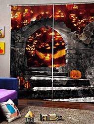 Недорогие -трансграничные поставки уф цифровая печать занавес хэллоуин тема для партии карнавал занавес 100% полиэстер плотные шторы