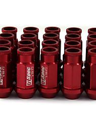Недорогие -m12 20 шт. / компл. 1.25 6 шлицевые гайки крепления колеса конус желудь конус сиденья