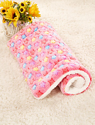 Недорогие -Собаки Кролики Коты Матрас Кровати Одеяла Коврики и подушки Ткань Плюшевая ткань Плюш Пэчворк Желтый Синий Розовый