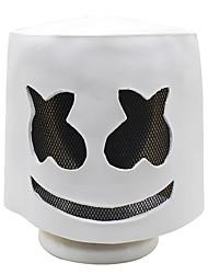 Недорогие -хэллоуин мягкий латекс диджей маршмелло маска косплей костюм аксессуар