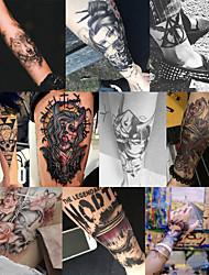 Недорогие -10 шт. / Лот водонепроницаемый татуировки наклейки бикини пион татуировки&усилитель; боди-арт цветок роза татуировка поддельная передача воды татуировка временная татуировка нога рука