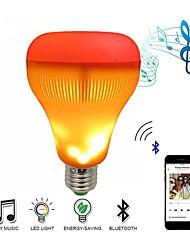 Недорогие -светодиодная музыка динамик лампочка с эффектом пламени RGB лампа для изменения беспроводной стерео аудио лампа с пультом дистанционного управления