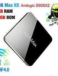 Недорогие -h96 max amlogic s905x2 android 8.1 4 ГБ ddr4 32 ГБ ТВ-бокс двухдиапазонный Wi-Fi LAN Bluetooth USB3.0 HDMI