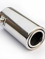 Недорогие -51 мм диаметр входного отверстия из нержавеющей стали выхлопной трубы автомобиля глушитель модифицированный хвостовое горло a1