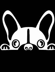 povoljno -ljupki slatki pas čuvar uzorak automobila naljepnice ogrebotine naljepnice