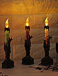 Недорогие -Праздничные украшения Украшения для Хэллоуина Halloween / Хэллоуин Развлекательный Специально разработанный / Светодиодная лампа / Для вечеринок Лиловый / Оранжевый / Зеленый 1шт