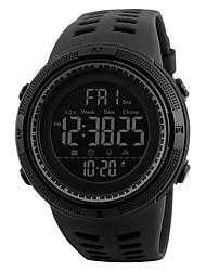 Недорогие -SKMEI Муж. Спортивные часы Цифровой силиконовый 30 m Защита от влаги Новый дизайн ЖК экран Цифровой На открытом воздухе Мода - Черный Зеленый Черный / Синий