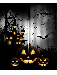 Недорогие -индивидуальные оригинальные шторы для спальни / гостиной хэллоуин тема ужасов светонепроницаемые шторы