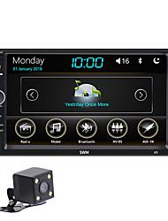 Недорогие -swm-n5 автомобильный bluetooth mp5 плеер автомобильное видео mp4 съемная карта флешка mp3 радио