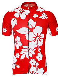 Недорогие -21Grams Муж. С короткими рукавами Велокофты Черный Розовый с красным Зеленый Цветочные ботанический Велоспорт Джерси Верхняя часть Дышащий Быстровысыхающий Впитывает пот и влагу Виды спорта Терилен