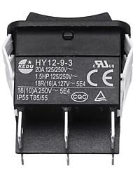 Недорогие -Kedu hy12-9-3 6-контактный промышленный электрический тумблер 125 В кнопочные переключатели