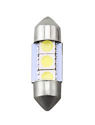 Недорогие -белый автомобиль авто 31мм 5050 чип 3-smd лампы для чтения гирлянда купол светодиодные лампочки