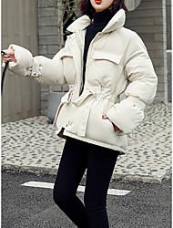 Недорогие -Жен. Однотонный Обычная На подкладке, Полиэфир Черный / Белый / Розовый M / L / XL