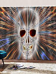 Недорогие -Украшение дома красочные черепа 3d цифровая печать шторы плотные ткани занавес для гостиной спальни декор занавес готовые