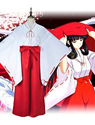 """billige -Inspirert av InuYasha Cosplay Anime  """"Cosplay-kostymer"""" Japansk Japansk Kimono Skjørte Til Dame"""