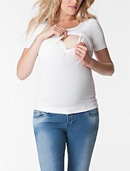 povoljno -Majica s rukavima Žene - Osnovni Dnevno Jednobojni Kolaž Crn