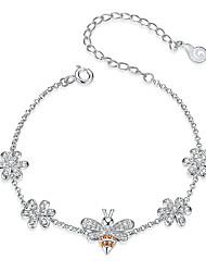 Недорогие -королева насекомых пчелы и цветок лобстер замок цепи браслеты для женщин стерлингового серебра 925 роскошные ювелирные подарки
