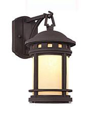 Недорогие -Настенный светильник Открытый водонепроницаемый ржавый настенный фонарь с сеткой тени тени антикварные бра настенный светильник для внутреннего двора коридор ванна