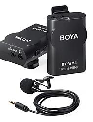 Недорогие -Boya by-wm4 mark ii Беспроводная микрофонная система Конденсаторный петличный микрофон для интервью с отворотом для камеры iphone canon Nikon DSLR