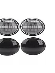 Недорогие -2шт светодиодные габаритные огни индикатор повторители лампы янтарного цвета для Fiat 500 500c abarth