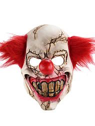 Недорогие -Ужасы Хэллоуин латекс клоун маска для взрослых с рыжими волосами убийца вечеринка