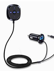 Недорогие -автомобильный комплект громкой связи bluetooth mp3-плеер 3.5 мм aux audio a2dp музыкальный приемник адаптер поддержка siri с магнитным основанием