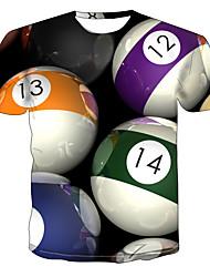 Недорогие -Муж. С принтом Футболка Уличный стиль / Панк & Готика Контрастных цветов / Графика Цвет радуги
