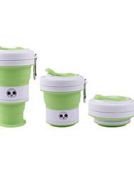 Недорогие -силиконовая питьевая чашка 550 мл симпатичная инновационная портативная складная чашка bpa путешествия настроение лица изменение