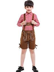 hesapli -Bavyera Kostüm Genç Erkek International Cadılar Bayramı Performans Kostümler Genç Erkek Dans kostümleri Polyester Nakış