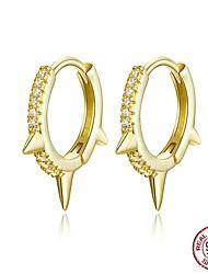 Недорогие -Золотой цвет панк ухо обручи стерлингового серебра 925 серьги обруча передач для женщин и мужчин циркония хип-хоп ювелирные изделия bse23168