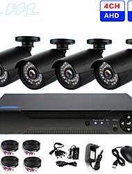Недорогие -4ch AHD мониторинг комплект магазин супермаркет монитор HD инфракрасного ночного видения DVR 2 миллиона