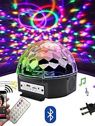 Недорогие -Loende 9 цвет светодиодный динамик Bluetooth диско-шар свет с mp3-плеер выпускного вечера лазерная вечеринка 18 Вт dj свет этапа лазерная проекционная лампа