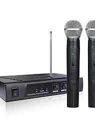 Недорогие -mv-289 vhf беспроводная микрофонная система 2 канала 2 беспроводной ручной микрофон kraoke речевые принадлежности для вечеринок кардиоидный микрофон