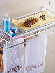 billige -Hylle til badeværelset Kreativ / Multifunktion Moderne Aluminium 1pc Vægmonteret