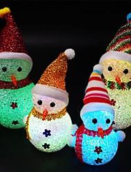 Недорогие -Светодиодное изменение цвета свет ночь милый Рождество Снеговик Санта-Клаус ночь форма цвет лампы Рождественский свет украшения дома бар свет декор 1 упак