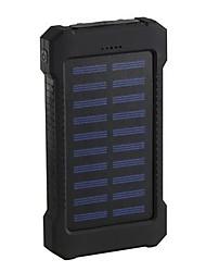 Недорогие -2019 солнечной энергии банк 30000 мАч двойной usb солнечное зарядное устройство внешняя батарея портативное зарядное устройство bateria externa пакет для смартфона