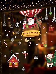 Недорогие -с Рождеством окно фильм&стикеры ampampamp декор животных / с рисунком праздник / характер / геометрические пвх (поливинилхлорид) стикер окна