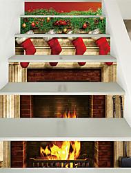 Недорогие -рождественские сапоги каминные лестницы домашнее украшение стены плоские стены и рождественские украшения (размер 100 * 18 6 штук)