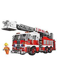 Недорогие -Конструкторы 1 pcs Пожарные машины совместимый Legoing Очаровательный Пожарная машина Все Игрушки Подарок