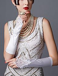 Недорогие -The Great Gatsby чарльстон 1920s Гетсби Ревущие двадцатые Перчатки Жен. Костюм Черный / Белый / Красный Винтаж Косплей Для вечеринок Выпускной
