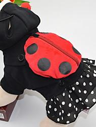 Недорогие -Собаки Инвентарь Одежда для собак Горошек Черный Полиэстер Костюм Назначение Зима Праздник Хэллоуин