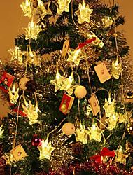 Недорогие -Струнные светильники 1,5 м 10 светодиодов теплого белого / RGB / белый креатив / вечеринка / звезда фото клип фонарь / атмосфера для вечеринки по случаю дня рождения / декоративные / на батарейках 1
