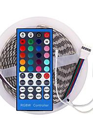 billige -led 12v smd 5050 rgbw / rgbww led stripelys led tape multi-farger med 40 nøkler fjernkontroll 300 leds ikke-vanntette lysstrimler fargeendrings pakke med 5m strips