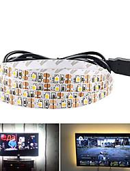 Недорогие -5 м USB гибкие светодиодные полосы света 300 светодиодов smd3528 8 мм теплый белый / белый / красный водонепроницаемый / вечеринка / декоративные 5 В 1 шт.