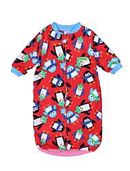 Недорогие -малыш Девочки Геометрический принт / С принтом Пижамы Светло-синий