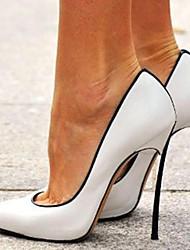 Недорогие -Жен. Обувь на каблуках На шпильке Заостренный носок Лакированная кожа Весна & осень Белый