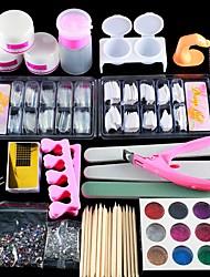 Недорогие -1 комплект Блеск Инструмент для ногтей Набор для ногтей Назначение Маникюр Педикюр Многофункциональный маникюр Маникюр педикюр Изысканный и современный / модный / Руководство по французским советам