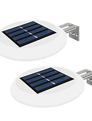 Недорогие -2шт 0,3 Вт наружное настенное освещение / светодиодный уличный светильник / настенный светильник на солнечной батарее водонепроницаемый / солнечный / творческий белый 2 В наружное освещение / бассейн