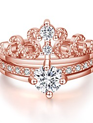 abordables -Femme Bague / Anneaux 2pcs Dorée Rose / Argent Cuivre Circulaire Basique / Coréen / Mode Cadeau / Vacances Bijoux de fantaisie